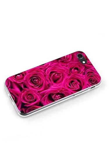 Lopard Apple İphone 8 Kılıf Kırmızı Taze Güller Kapak Renkli